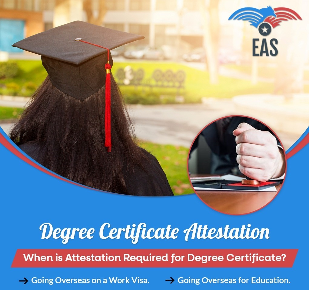 Attestation for degree certificate